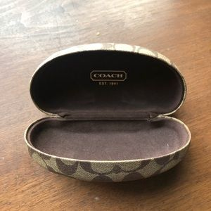 Authentic Coach Glasses Case and Cleaning Cloth